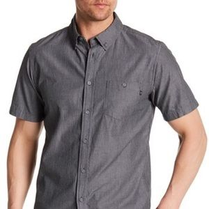 NWOT Obey Clement Pinstripe Short Sleeve Shirt
